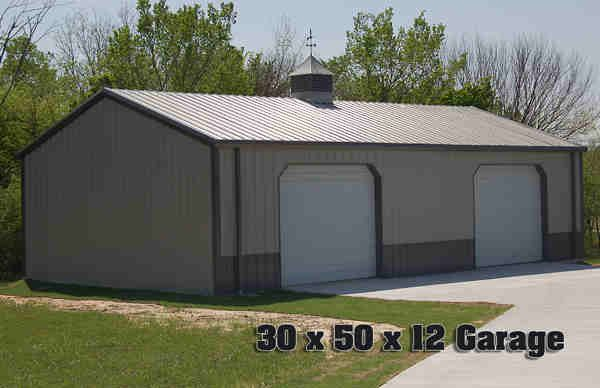 pole barn 30x50 garage plans ideas pinterest