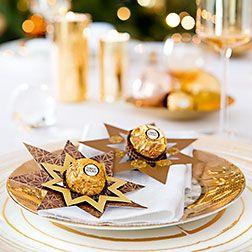 ferrero festlich dekorieren ferrero rocher pinterest weihnachten basteln weihnachten. Black Bedroom Furniture Sets. Home Design Ideas