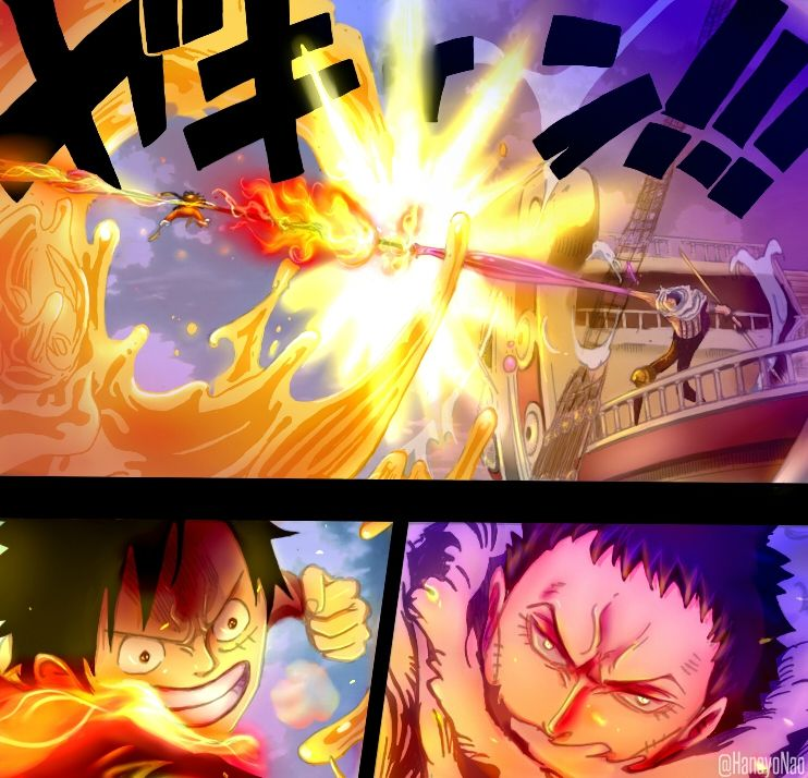 One Piece 877 - Luffy VS Katakuri color version by Hanayo