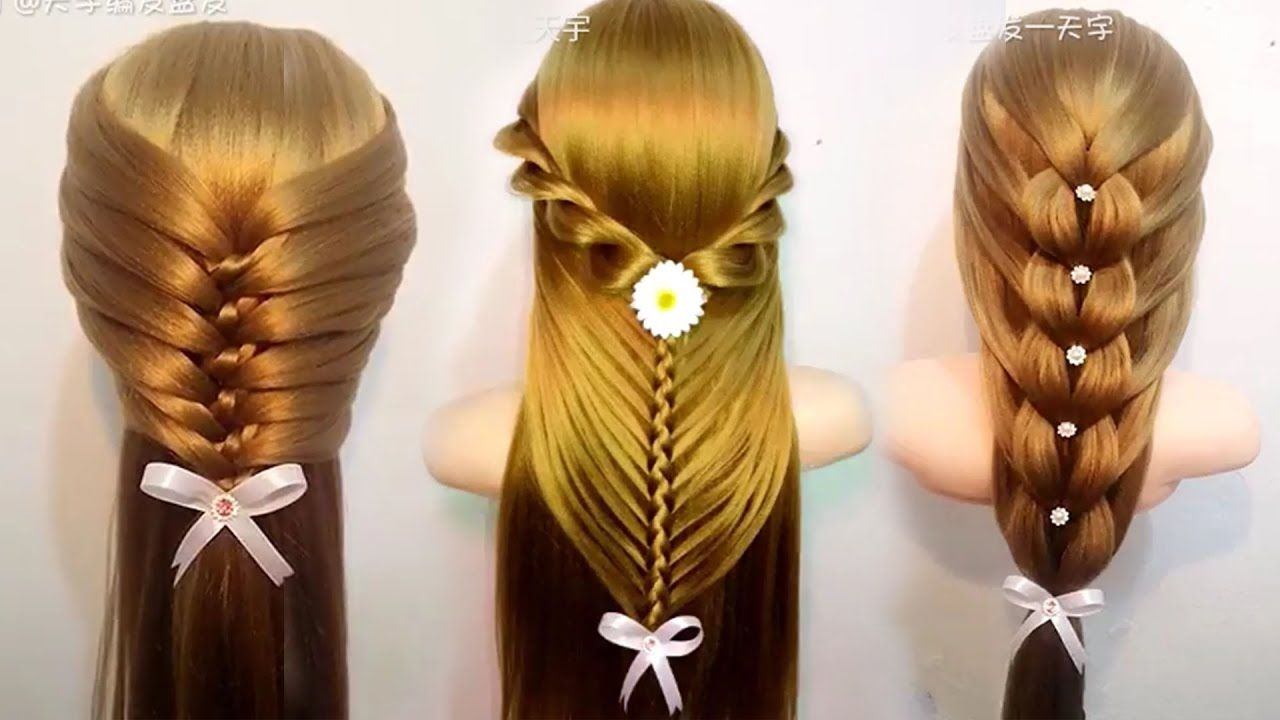 Top 10 des Incroyables Coiffures de Tutoriels Compilation 2017 | Quick  hairstyles for school, Medium hair styles, Diy hairstyles