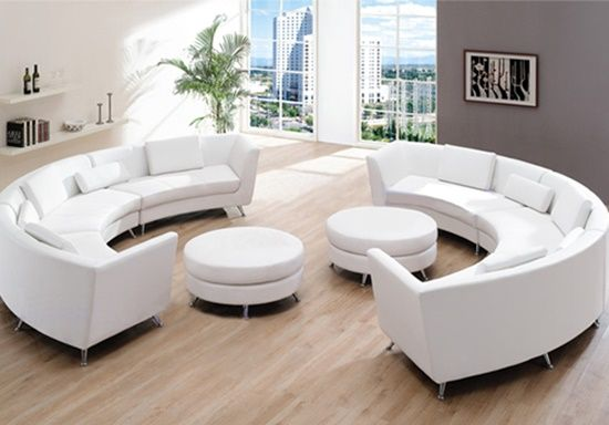 Get classy look inside your living room by having Italian curved - das modulare ledersofa heart formenti