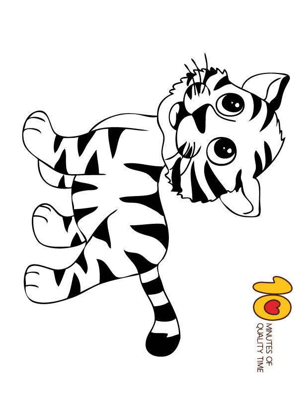 Tiger Coloring Page Animal Coloring Pages Tiger Drawing For Kids Easy Tiger Drawing Coloring Pages
