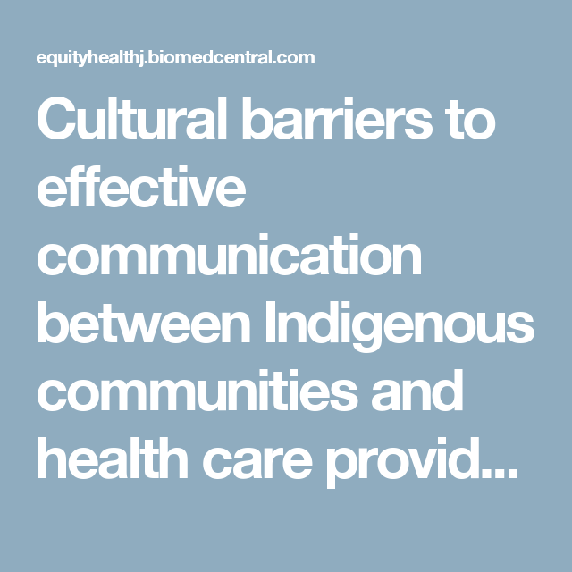 Cultural barriers to effective communication between