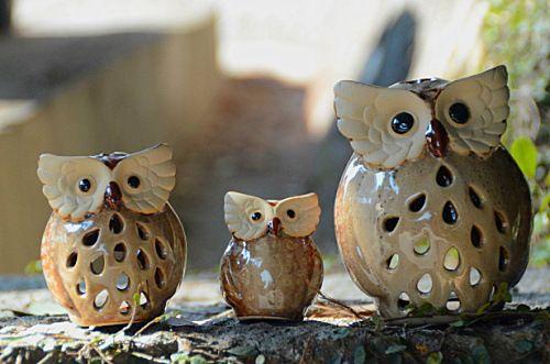 D coration de la maison rustique chouettecollier artisanat cadeau de mariage ensemble ceramic - La maison rustique ...