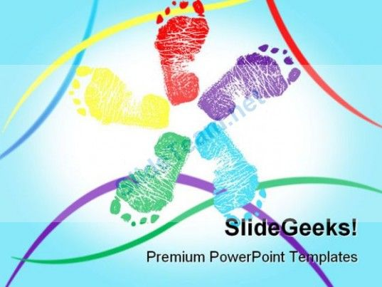 Happy Feet Symbol PowerPoint Templates And PowerPoint Backgrounds 0711 #PowerPoint #Templates #Themes #Background