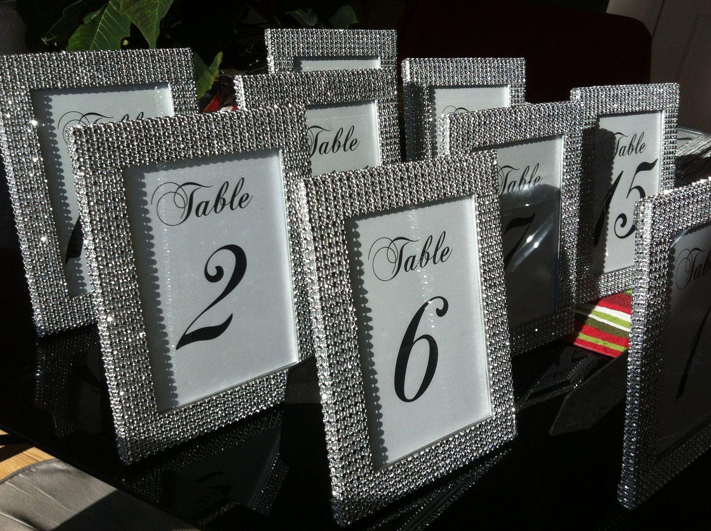 Custom Listing: Yisell | Pinterest | Silver rhinestone, 5x7 frames ...