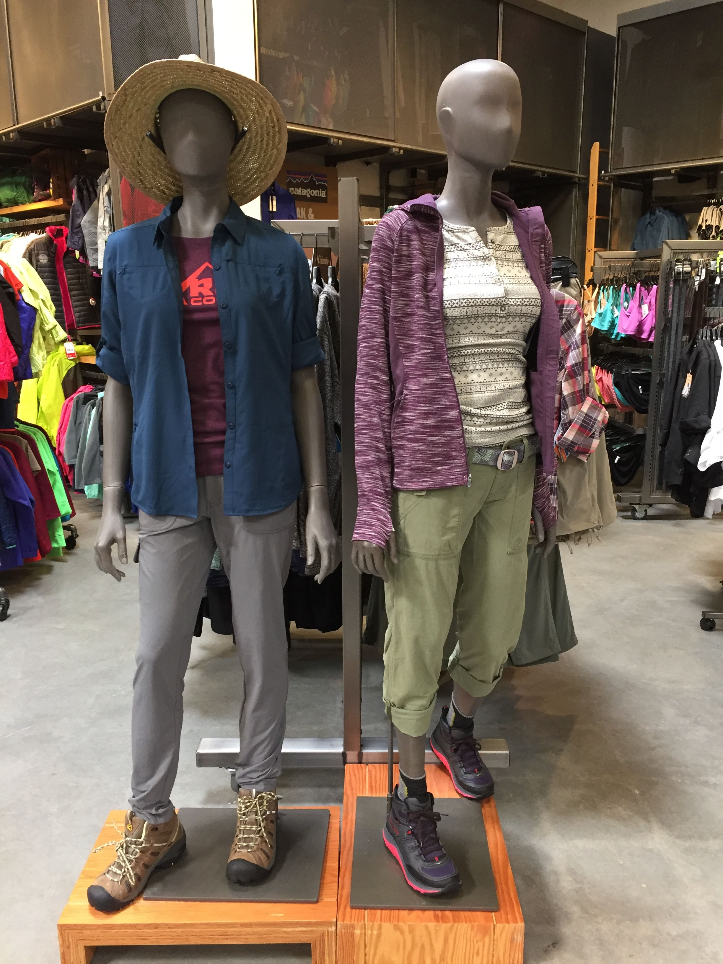 REI and Columbia Mannequins (Women's Casual)