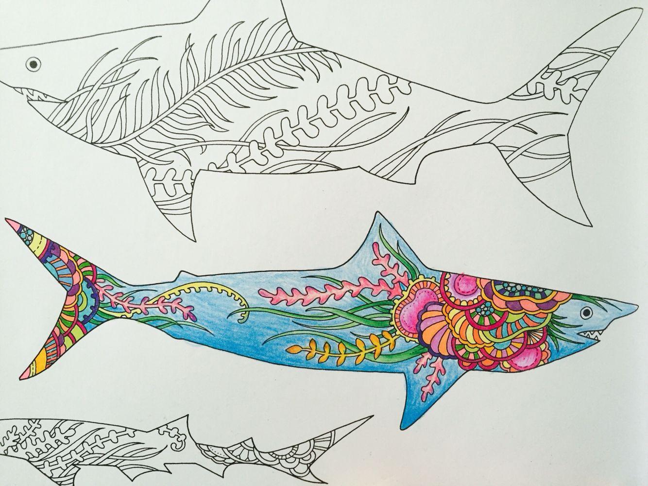 The Lost Ocean by Johanna Basford!!! sharks Ocean