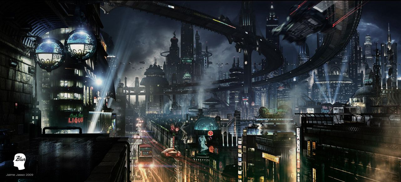 SCIFI City Concept By JJasso Cyberpunk Desktop Backgrounds