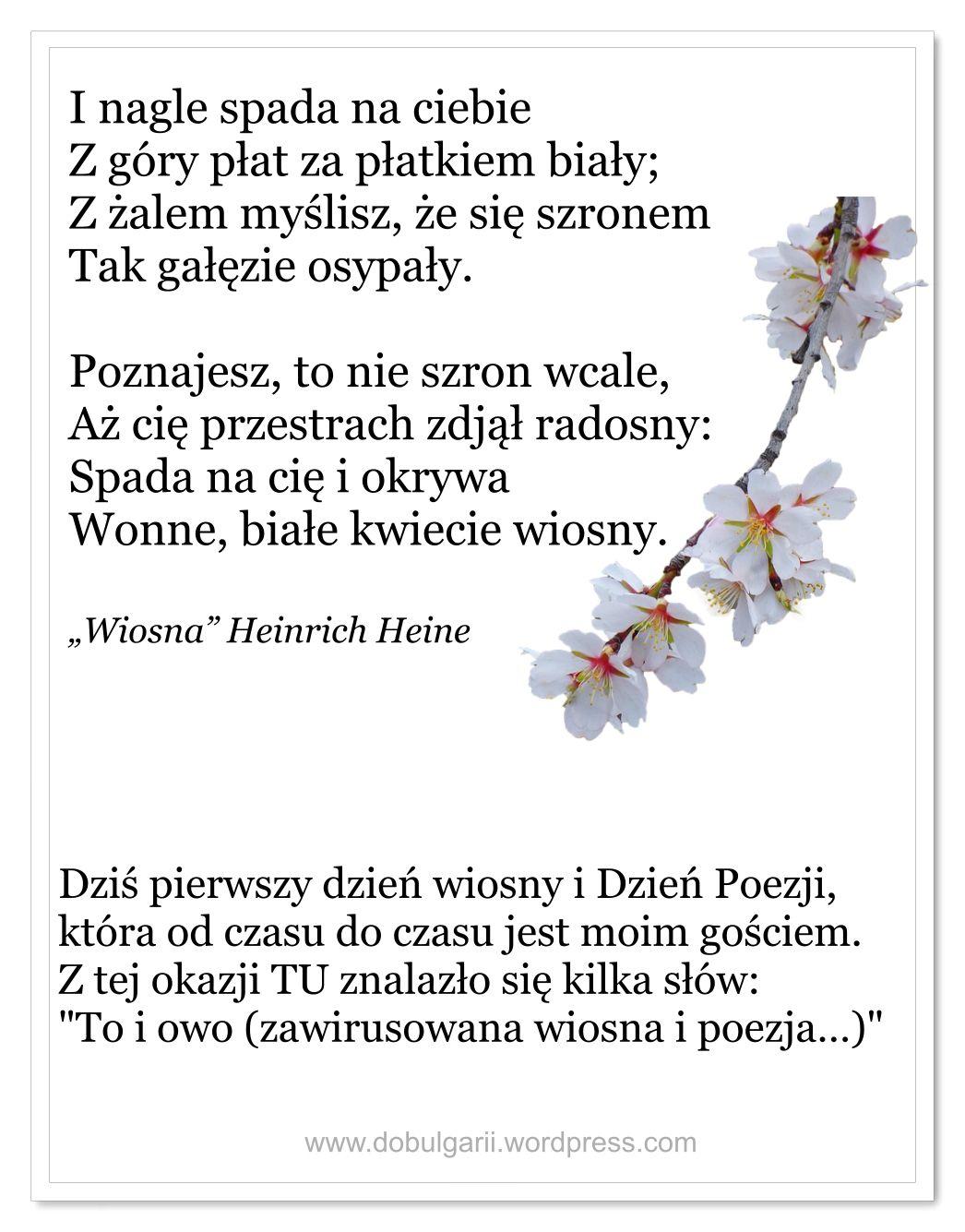 To I Owo Zawirusowana Wiosna I Poezja In 2020
