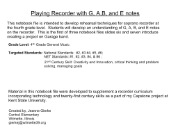 Recorder Music for GAB and E Notes p8