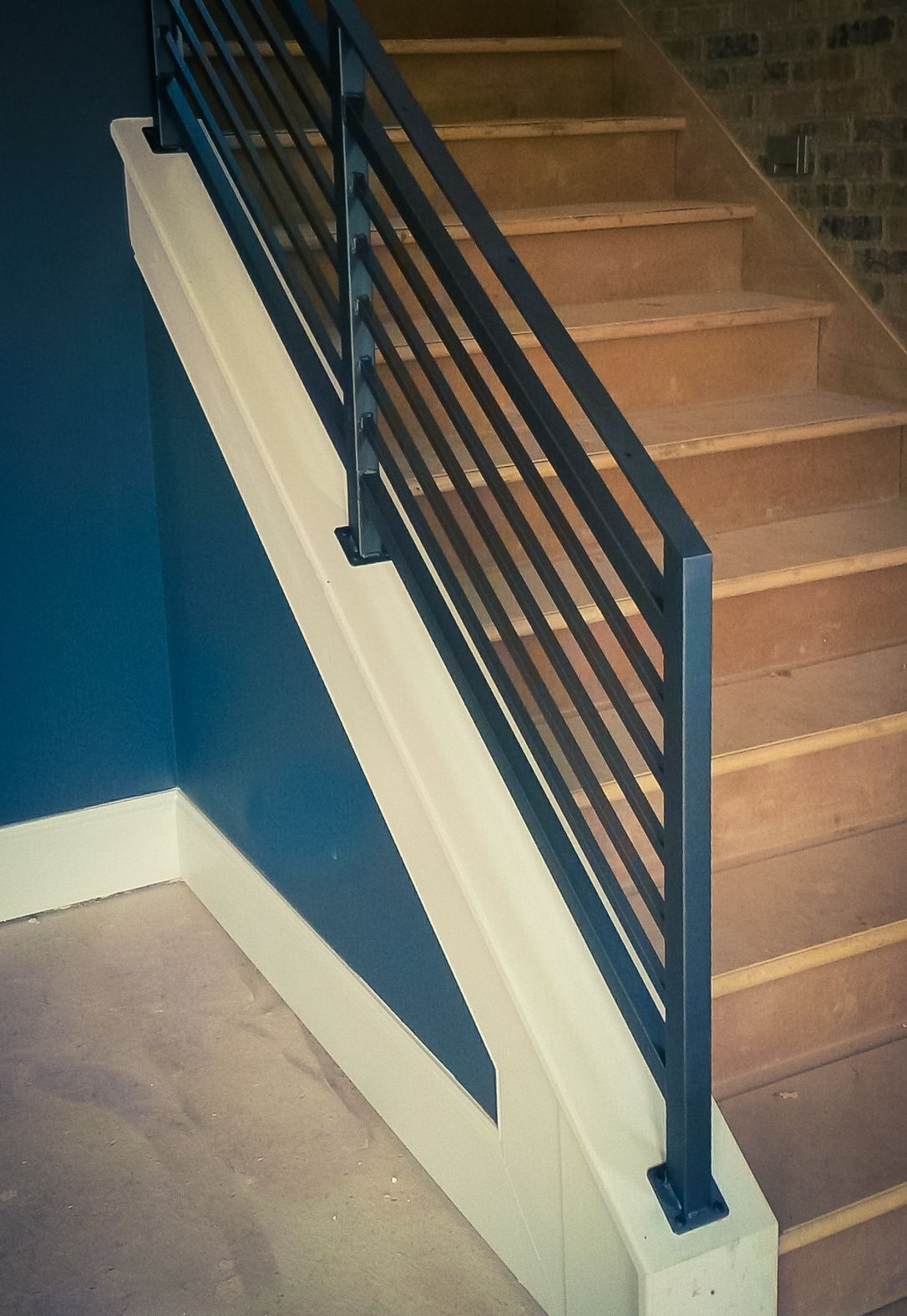 Wrought Iron Railing With Clean Horizontal Lines Wrought Iron