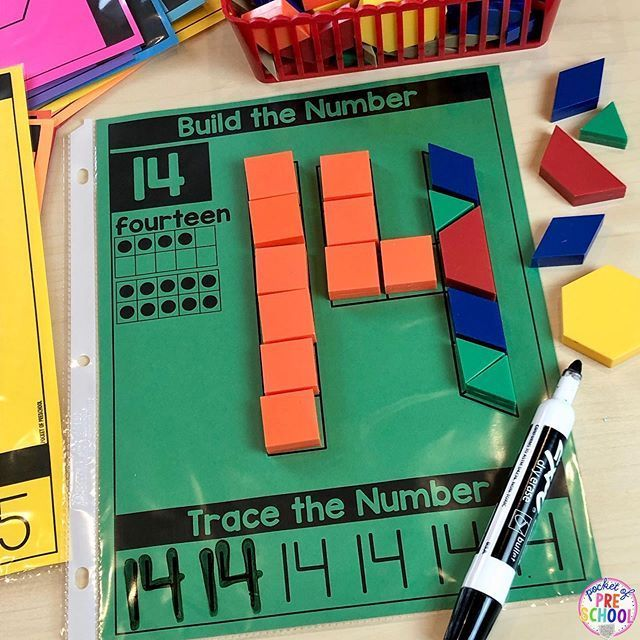 Pattern Block Number Mats - Fine Motor Fun