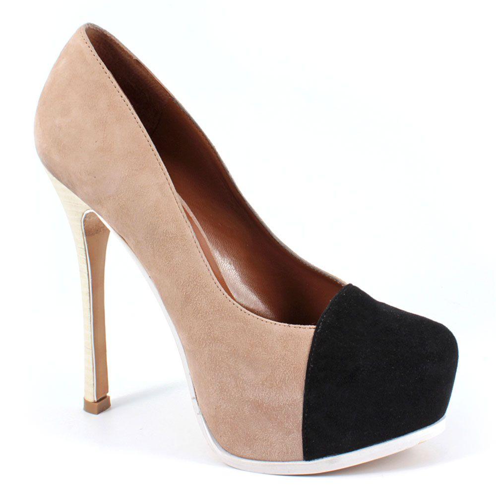 Scarpe moda donna: Decolleté tacco alto C18-03 Nero