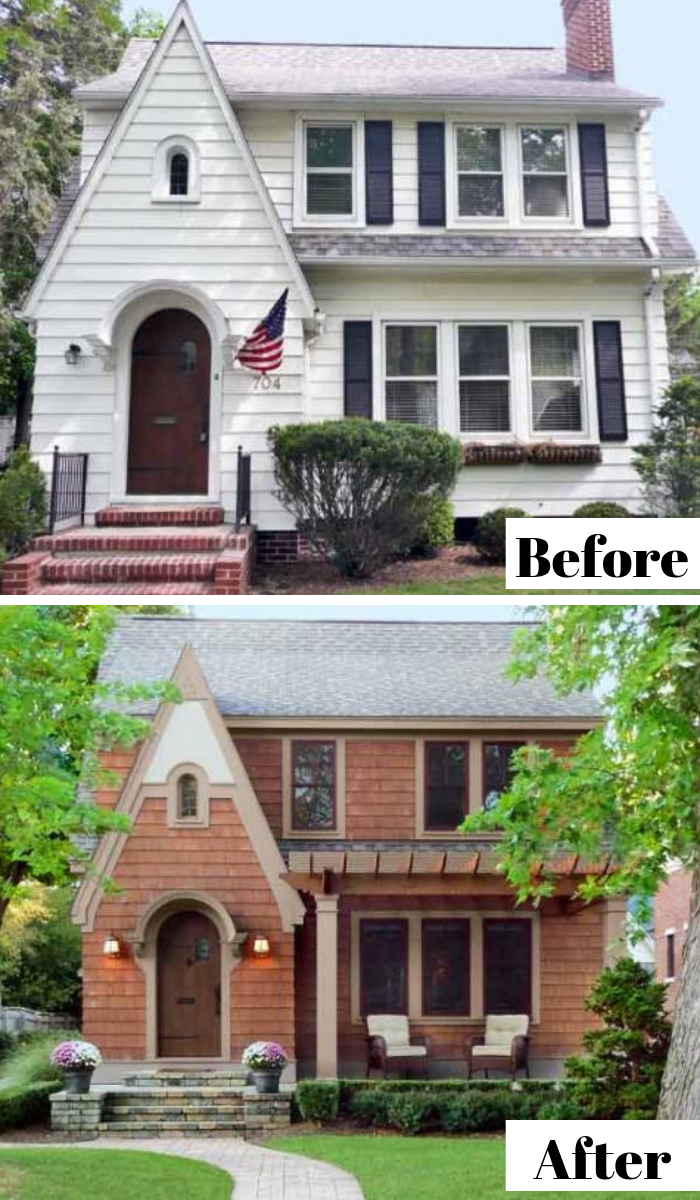 Curb Appeal Before And Afters Shingle House Curb Appeal Painting Trim