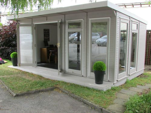 The Fully Insulated Garden EcoSuite Home Office / Log Cabin  | eBay #logcabinhomes
