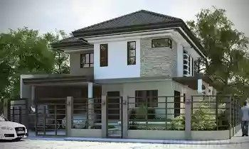 Corner Lot Modern House Plans Corner Free Printable Images House Philippines House Design Philippine Houses Two Story House Design