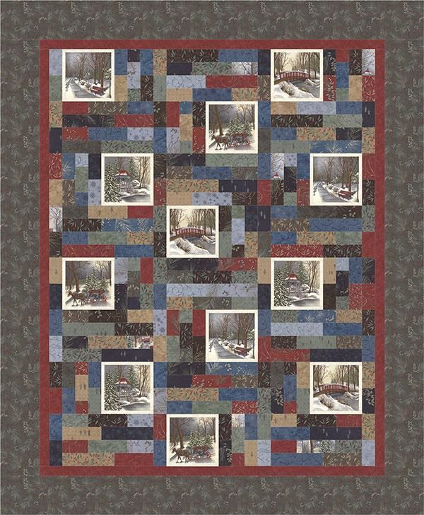 Town Square Kit...$119.99......Includes: Fabric for top and ... : quilt panel kits - Adamdwight.com