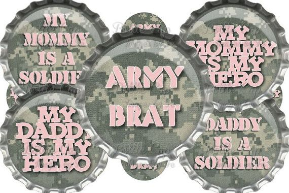 "#DIY jewelry ""My Daddy IS My Hero"" Soldier/Army  Digital Bottle Cap Images Instant Download $2.00"