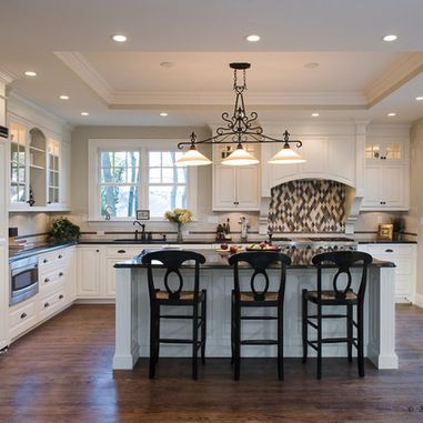 Tray Ceiling Kitchen Design Ideas Pictures Remodel And Decor Kitchen Ceiling Design Traditional Kitchen Renovation Kitchen Ceiling