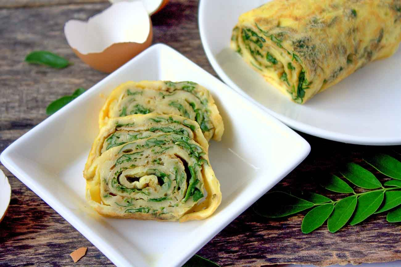 Egg Rolls With Moringa Leaves Recipe Eggs With Drumstick Leaves Recipe Moringa Recipes Recipes Healthy Eating Plan