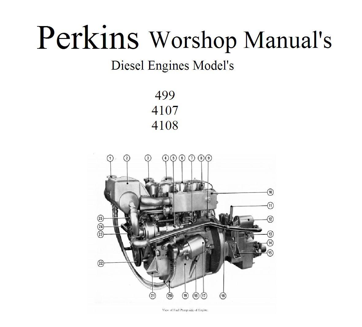 Perkins Marine Diesel Engines 4108 4107 499 Workshop Manuals Engine Wiring Diagram Collection Narrowboat