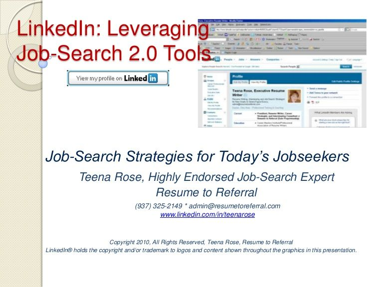 Job-Search Strategies for Todayu0027s Jobseekers Why is LinkedIn so - linkedin resumes search