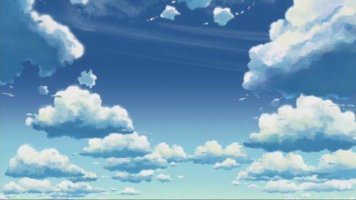 Anime Clouds Scenery Hd Desktop Wallpaper Pixel Art Anime