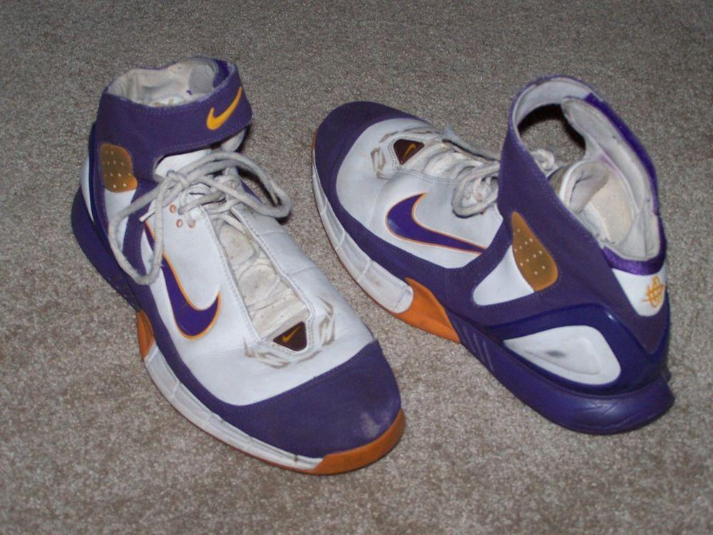Nike Air Zoom Huarache 310850 151 Lakers purple orange white size 15