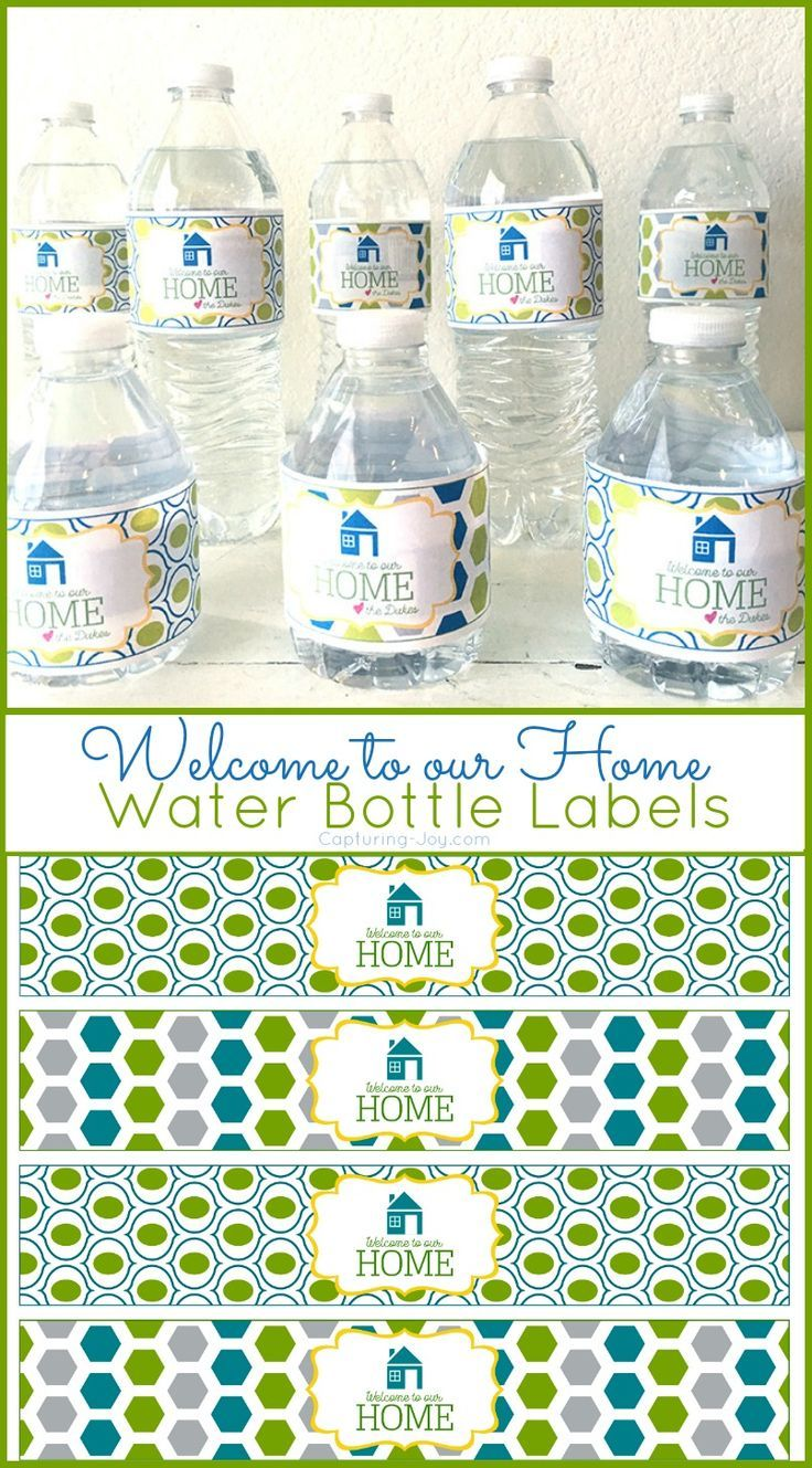 Welcome To Our Home Water Bottle Label Gift Ideas