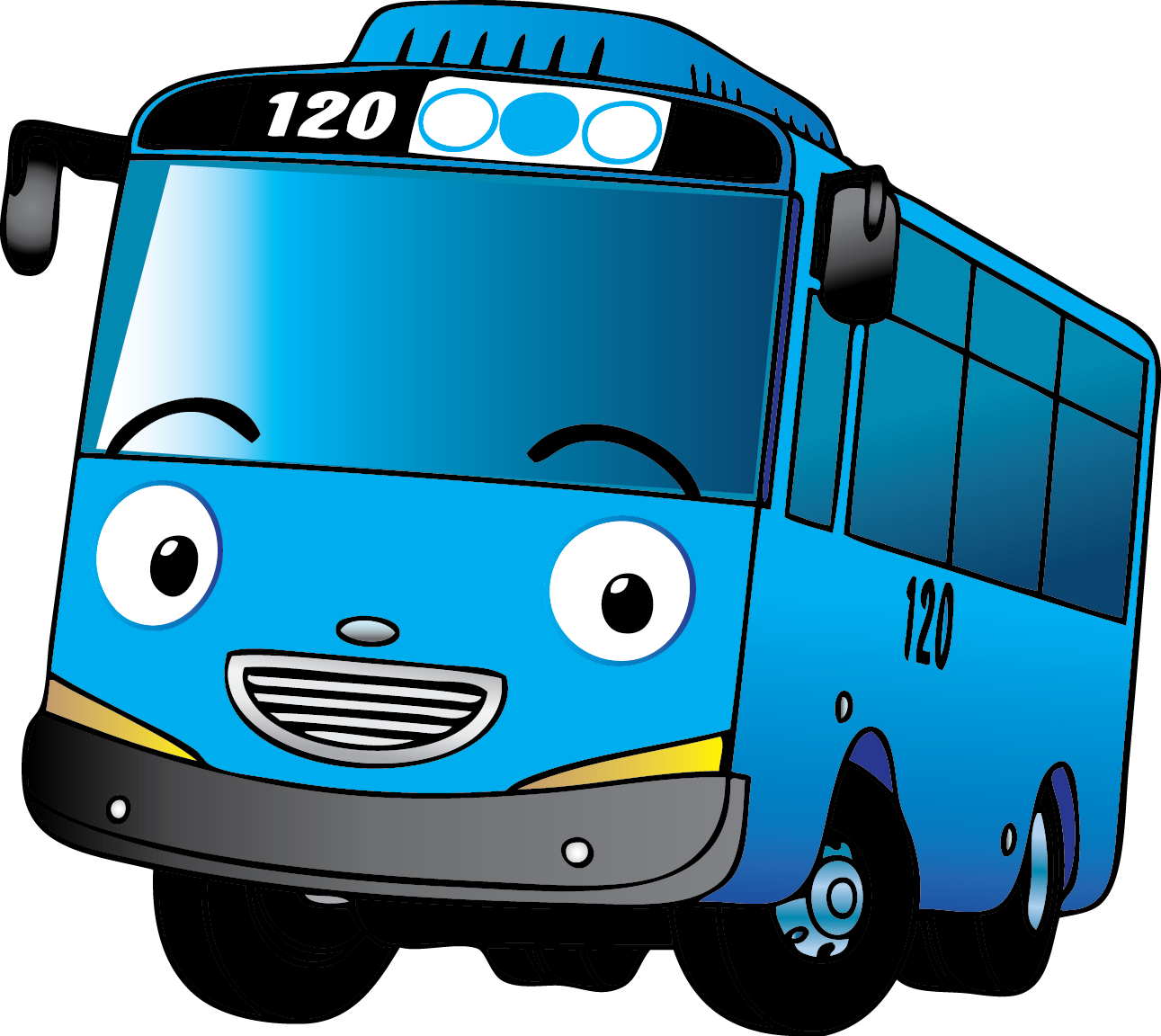 Sinij Avtobus Kartun Mobil Lucu