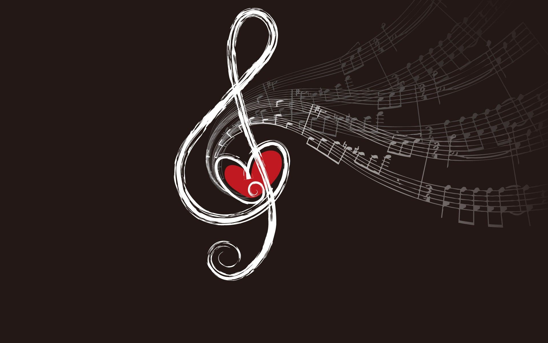 I Love Music Hd Wallpaper For Mobile: Love-music-wallpaper-Love-Music-Notes-Brown-Background