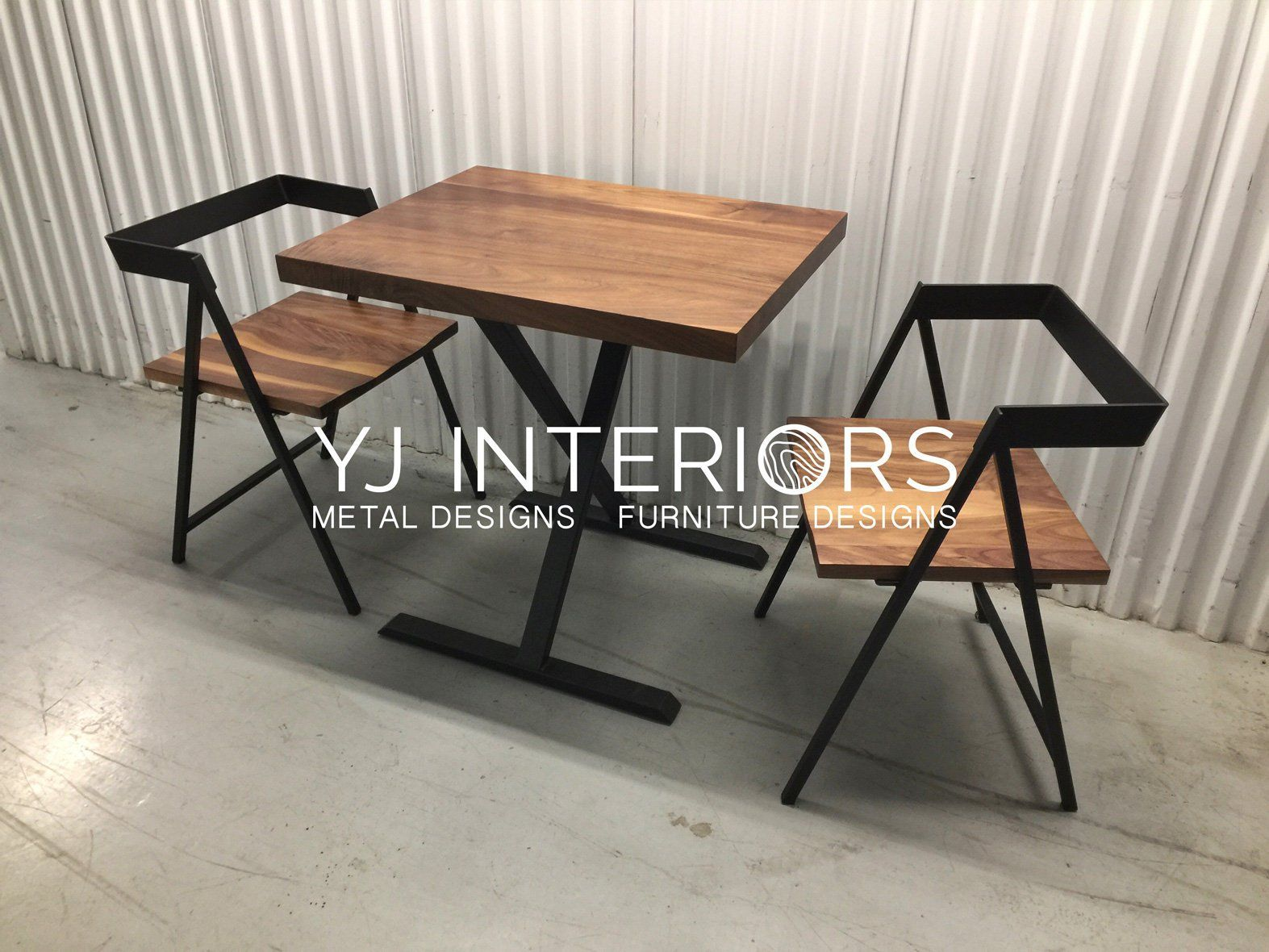 X Frame Bistro Restaurant Table With Black Walnut Ash Maple Tops