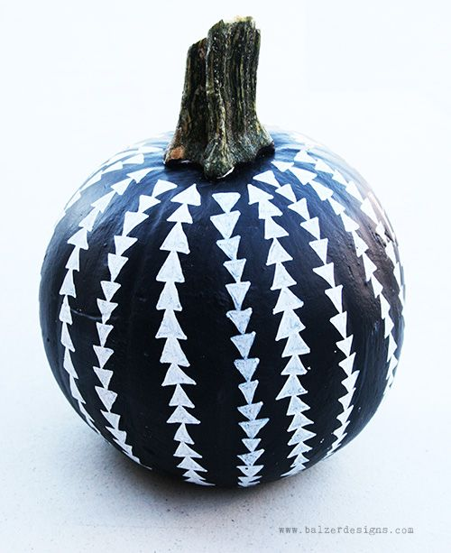 painted pumpkin, blogged at balzer designs