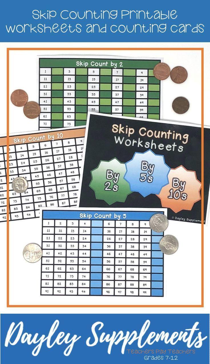 Skip Counting Math Skip counting, Counting worksheets