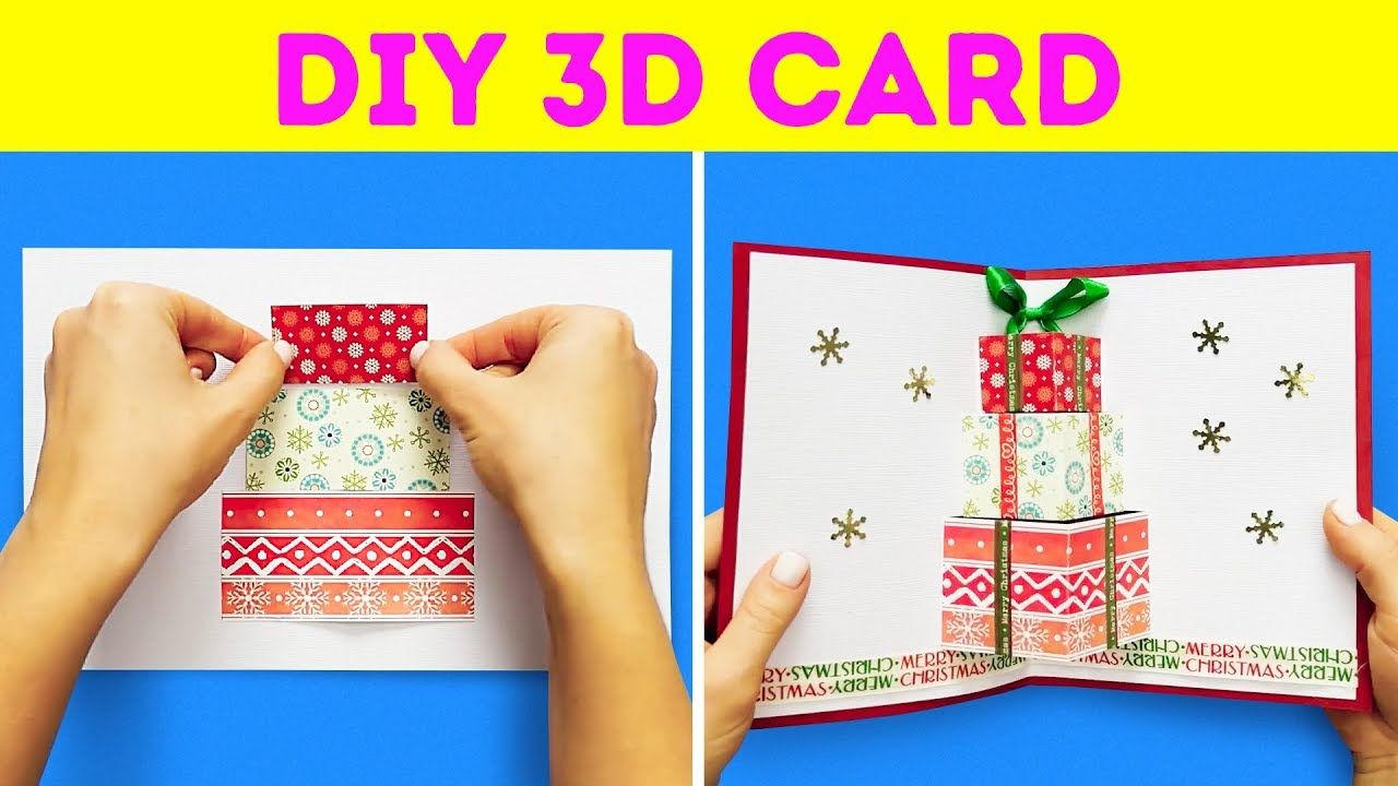32 Diy Holiday Cards Ideas Diy Holiday Cards Fun Christmas Cards Diy Pop Up Cards