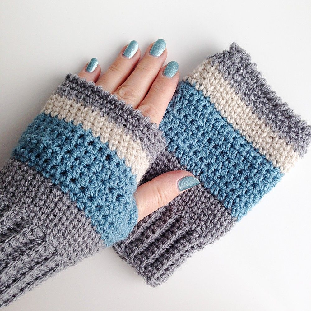 Extended Single Crochet Tutorial on Craftsy | Guantes, Guantes sin ...