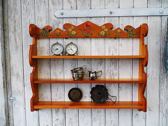 Primitive shelf, old regal - wall shelf - rack - 70s 1970 Regal - küchenunterschrank selber bauen