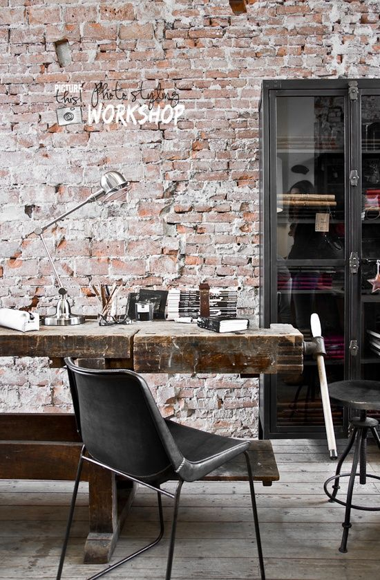rustic industrial style office sweet home pinterest