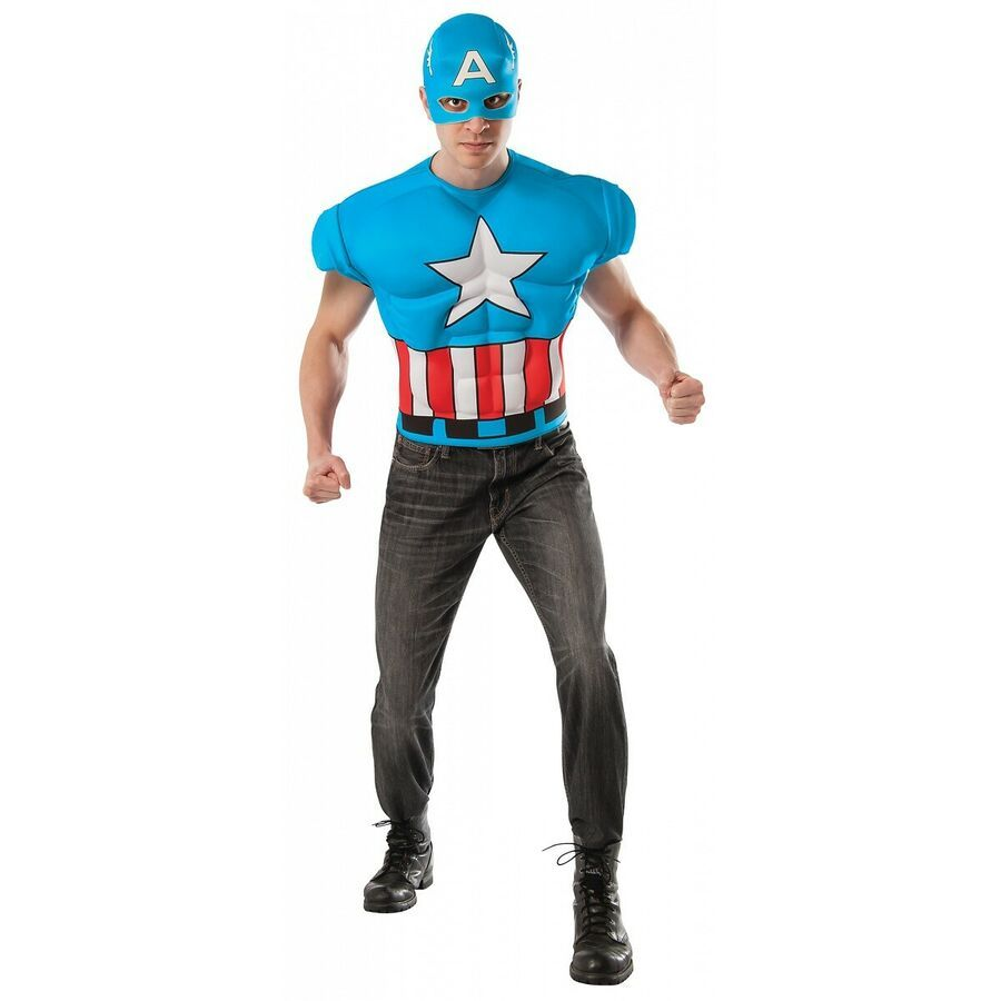 Superhero Costume Shirt Adult Marvel Universe Halloween Fancy Dress