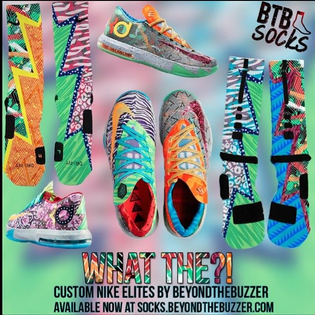 BTB Socks custom elites to match the upcoming KD VI \