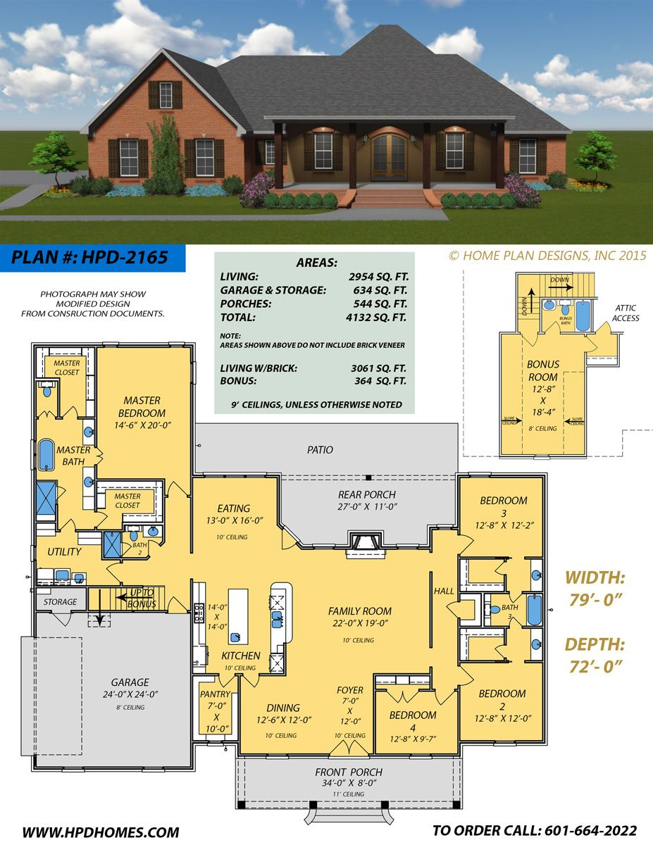 Home Plan Designs Www Hpdhomes Com Judson Wallace 601 664 2022 New House Plans Best House Plans House Layouts