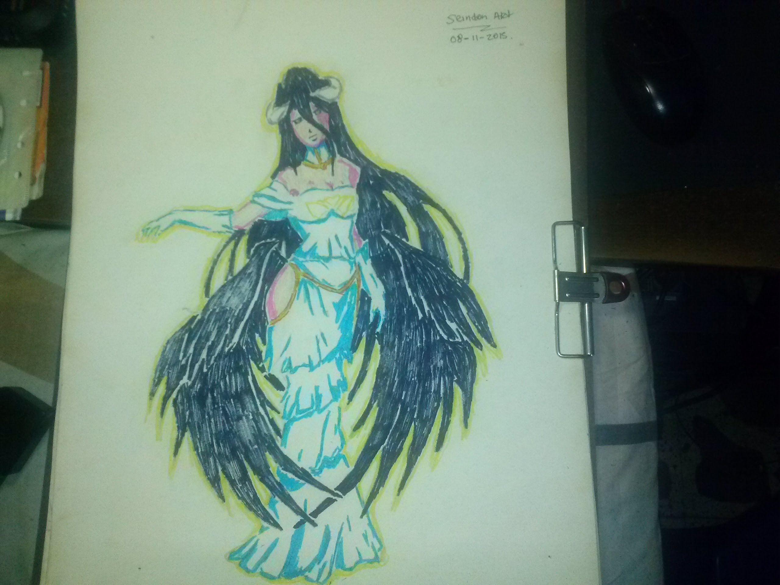 Dibujando A Albedo Del Anime Overlord /A Drawing Albedo Of Overlord Anime