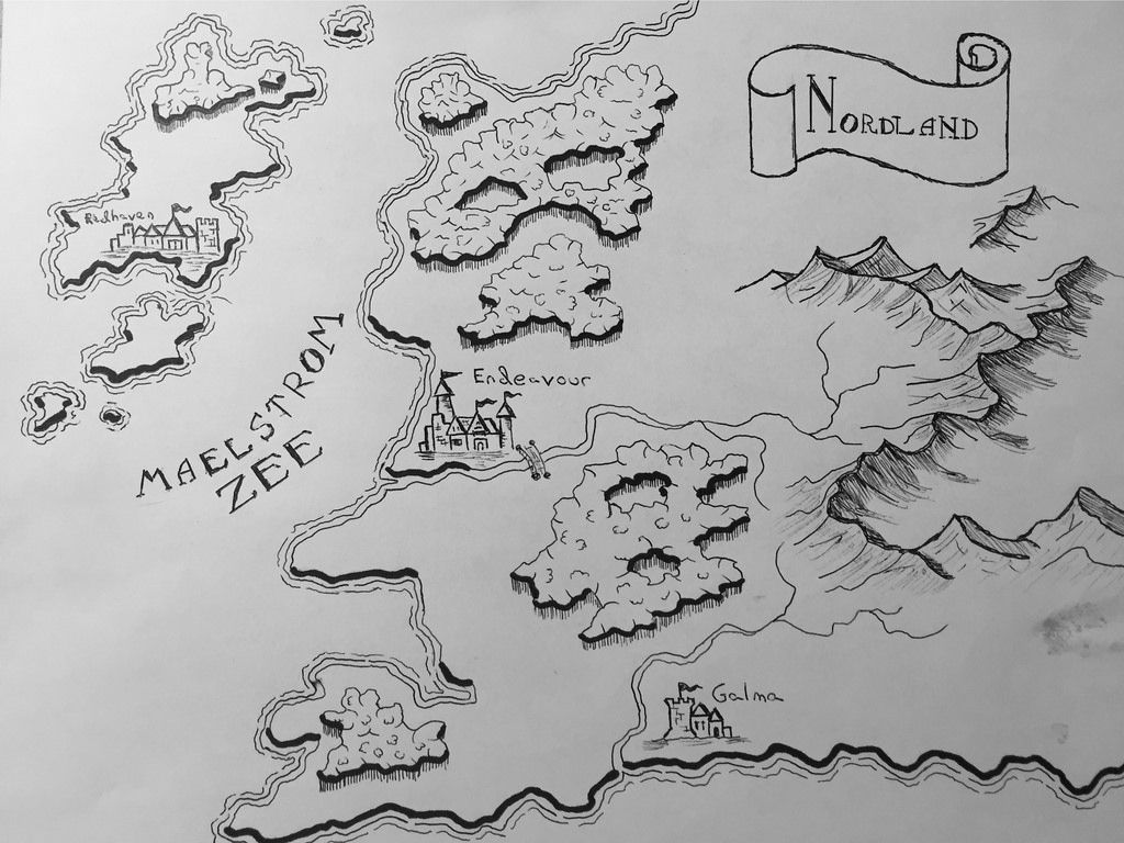 Love the mountains depicted in this map. Fantasy map