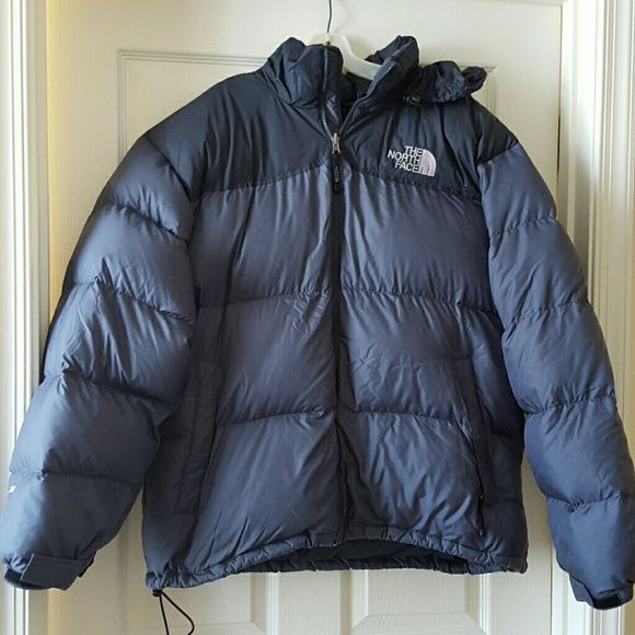 55067057d Men's The North Face Nuptse 700 down puffer jacket Black and grey ...