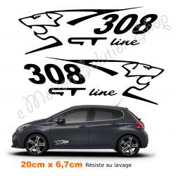 Lot De 2 Stickers Autocollants Peugeot 308 Gt Line Autocollant 3008 Gt Peugeot 3008 Gt Line