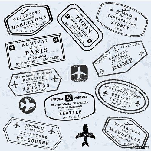 Travel Vector Passport Stamps Travel Stamp Passport Stamps Stamp