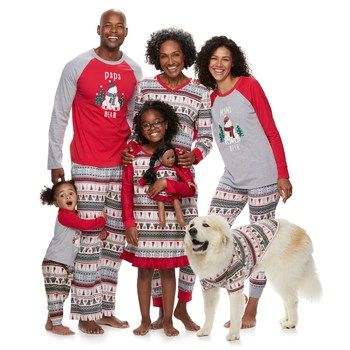 19dbf0191 Jammies For Your Families Polar Bear Fairisle Family Pajamas by Cuddl Duds