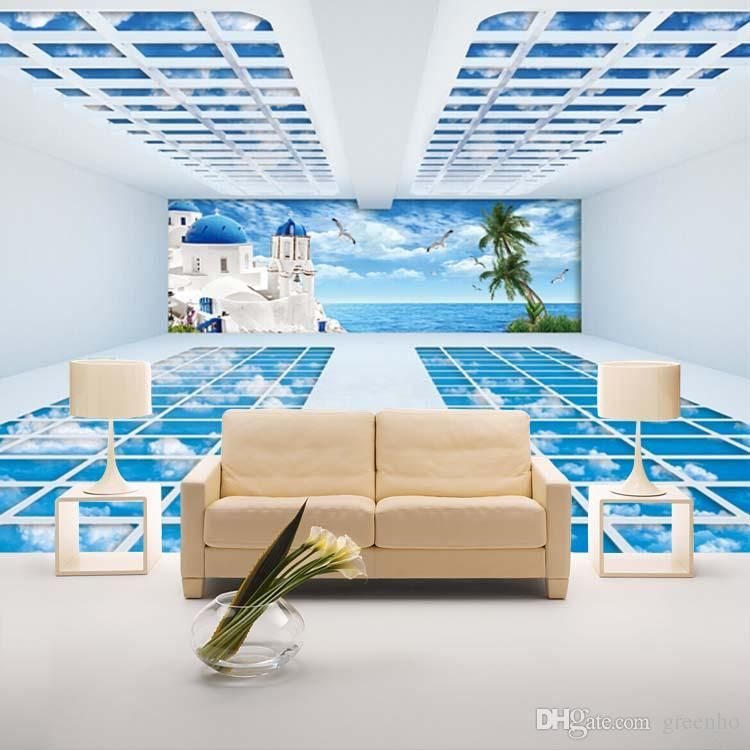 3D Photo wallpaper Coconut palm Seascape Designer Wall Mural Wall