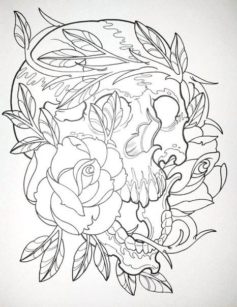 Erik Siuda Modern Tattoo Designs 55 Photos Vk Designs Coloring Books Skull Coloring Pages Tattoo Coloring Book